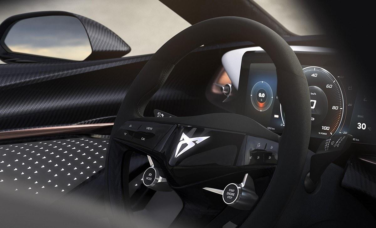 CUPRA muestra el interior de su nuevo coche eléctrico
