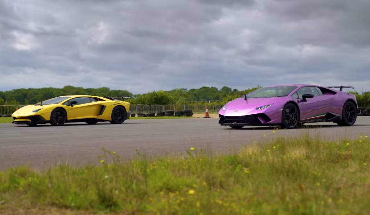 Drag race: Lamborghini Aventador SV vs. Huracán Performante