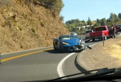El primer accidente de un Chevrolet Corvette C8
