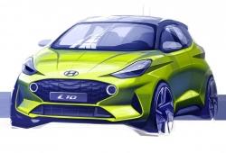 El nuevo Hyundai i10 2020 desvelado mediante un boceto