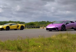 Drag race: Lamborghini Aventador SV vs. Huracán Performante