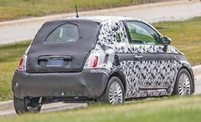 Fiat 500 eléctrico - foto espía