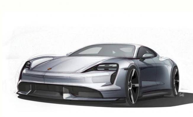 Porsche Taycan - boceto