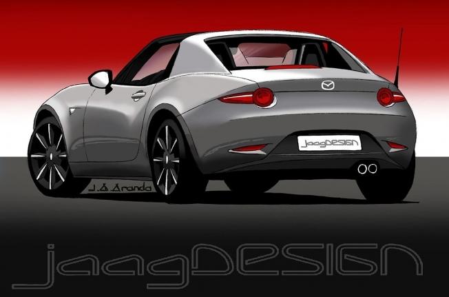Mazda MX-5 2020 - boceto posterior