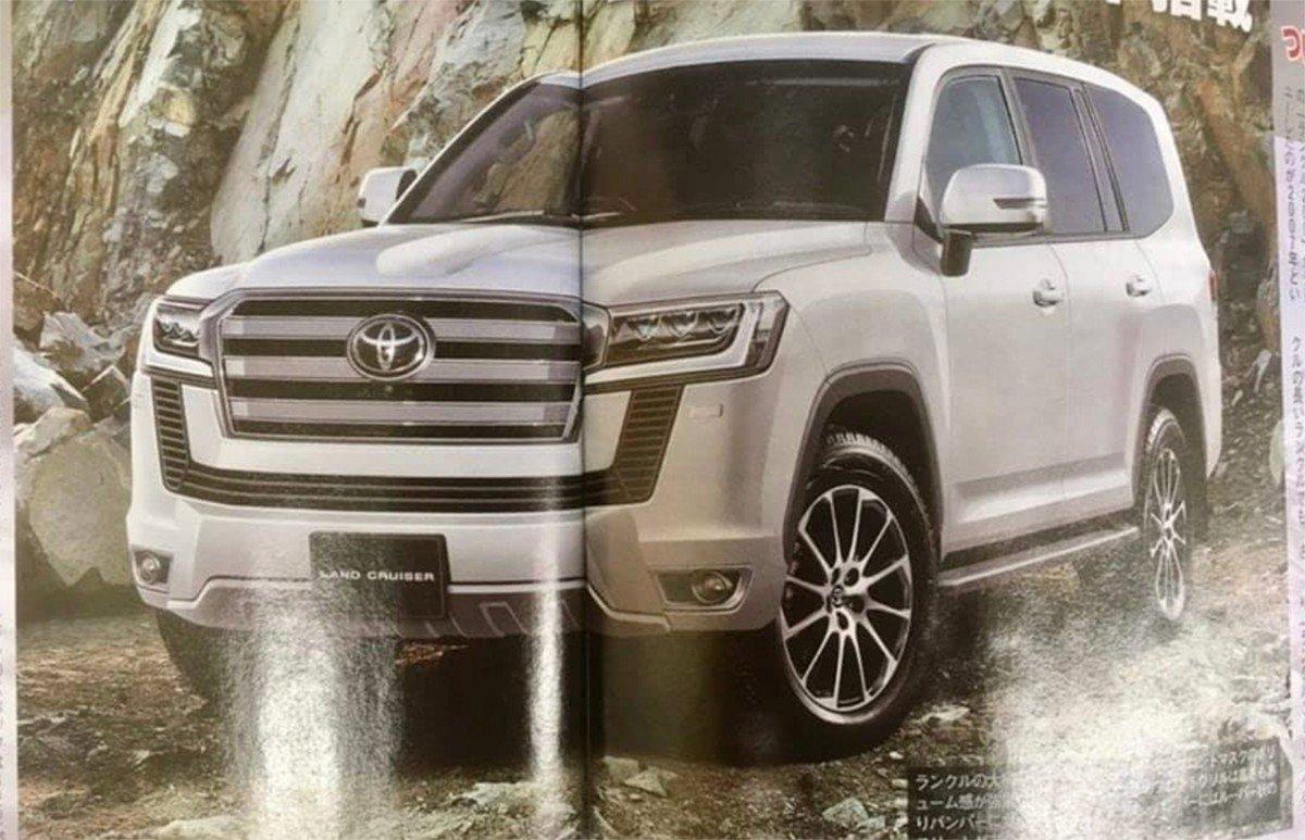 Render sobre el futuro diseño de la próxima generación del Toyota Land Cruiser