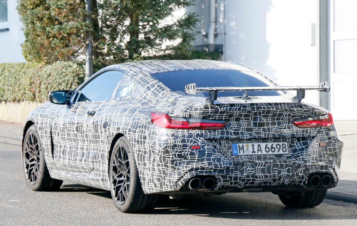 Sorprendemos un prototipo del BMW M8 probando un enorme alerón
