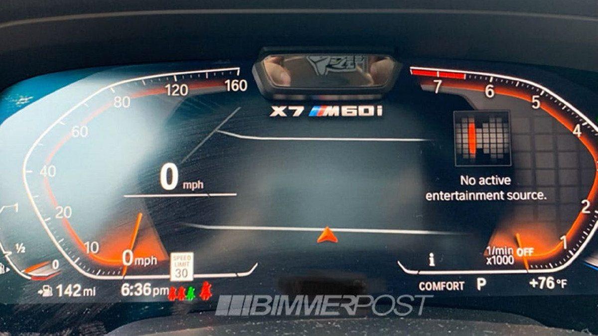 Un fallo de software desvela la existencia del posible BMW X7 M60i