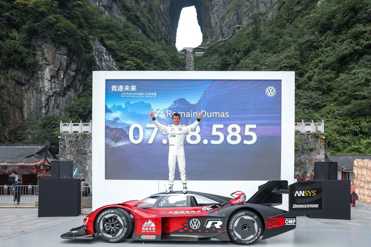 El Volkswagen ID. R alcanza 'la Puerta del Cielo' en tiempo récord