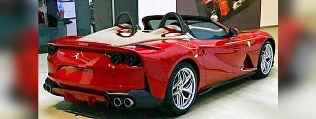 El Ferrari 812 descapotable filtrado al desnudo