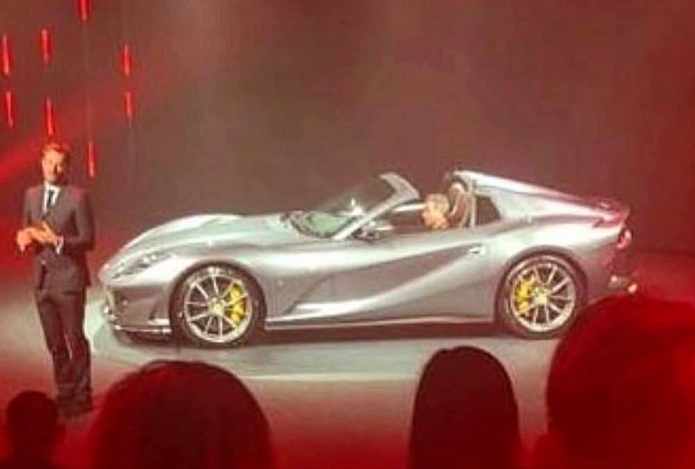 La primera (verdadera) imagen filtrada del nuevo Ferrari 812 GTS