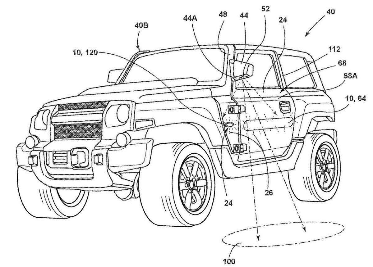 Ford patenta unos curiosos retrovisores para el Ford Bronco