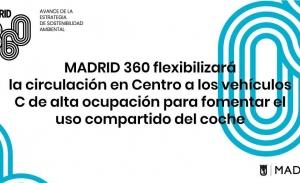 """Madrid360 permitirá acceso a vehículos """"C"""" al centro si llevan pasajeros"""