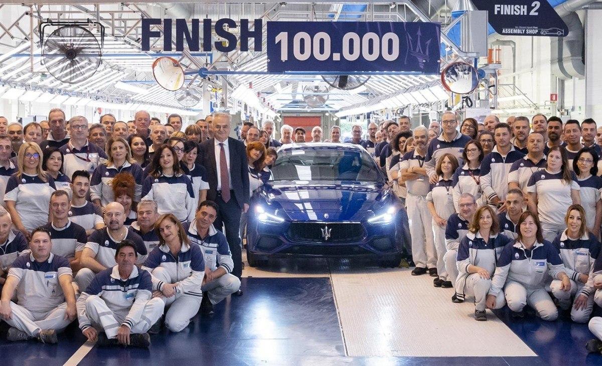 El Maserati Ghibli alcanza las 100.000 unidades producidas