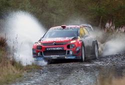 El Citroën C3 WRC estrena suspensiones en el test de Gales