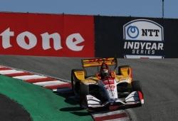 Herta y Hunter-Reay lideran los libres de Laguna Seca; Rossi con problemas