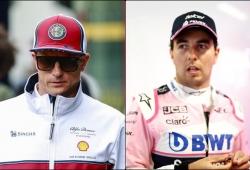 Räikkönen y Pérez, penalizados tras el accidente y la rotura de motor
