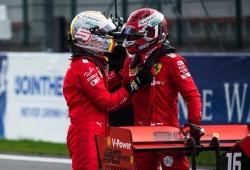 "Vettel, sobre Leclerc: ""Cuando tengamos coche para ganar, podremos pelear"""