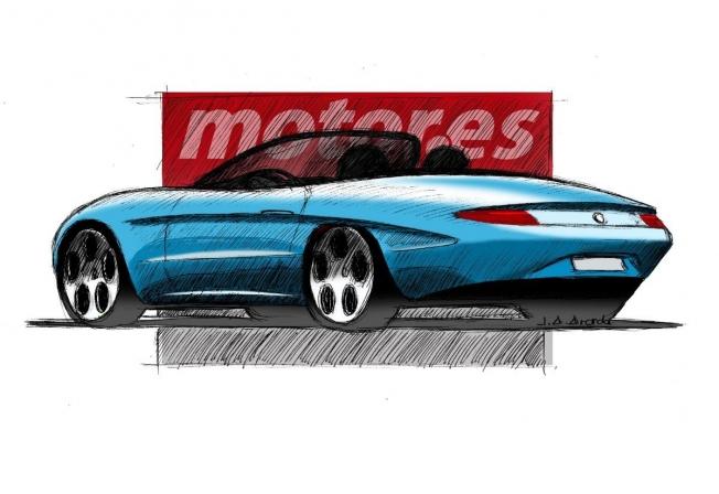 Boceto del nuevo Alfa Romeo Spider Duetto
