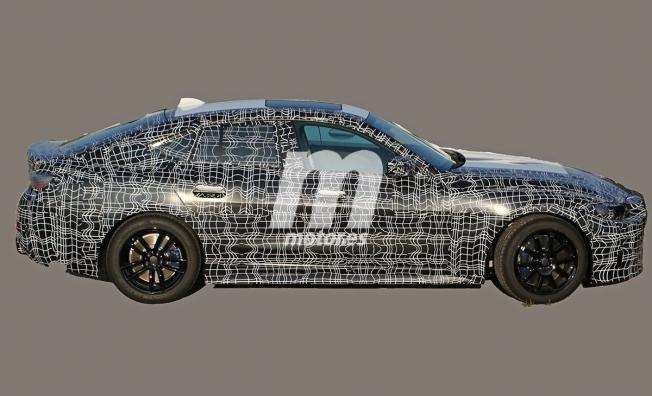 BMW Serie 4 Gran Coupé 2021 - foto espía lateral