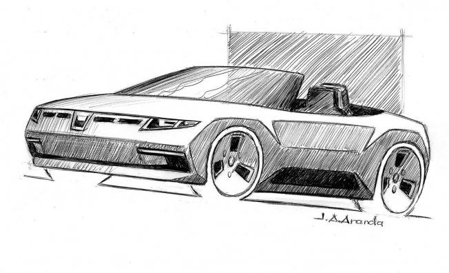 Boceto del Dacia CrossRoadster