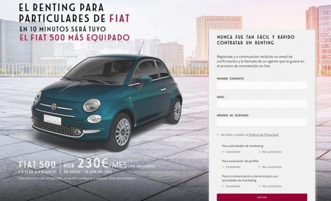 Renting para particulares de Fiat