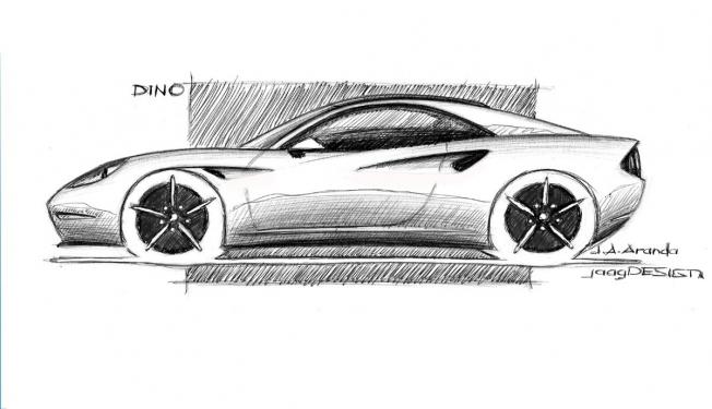 Boceto de un nuevo Ferrari Dino