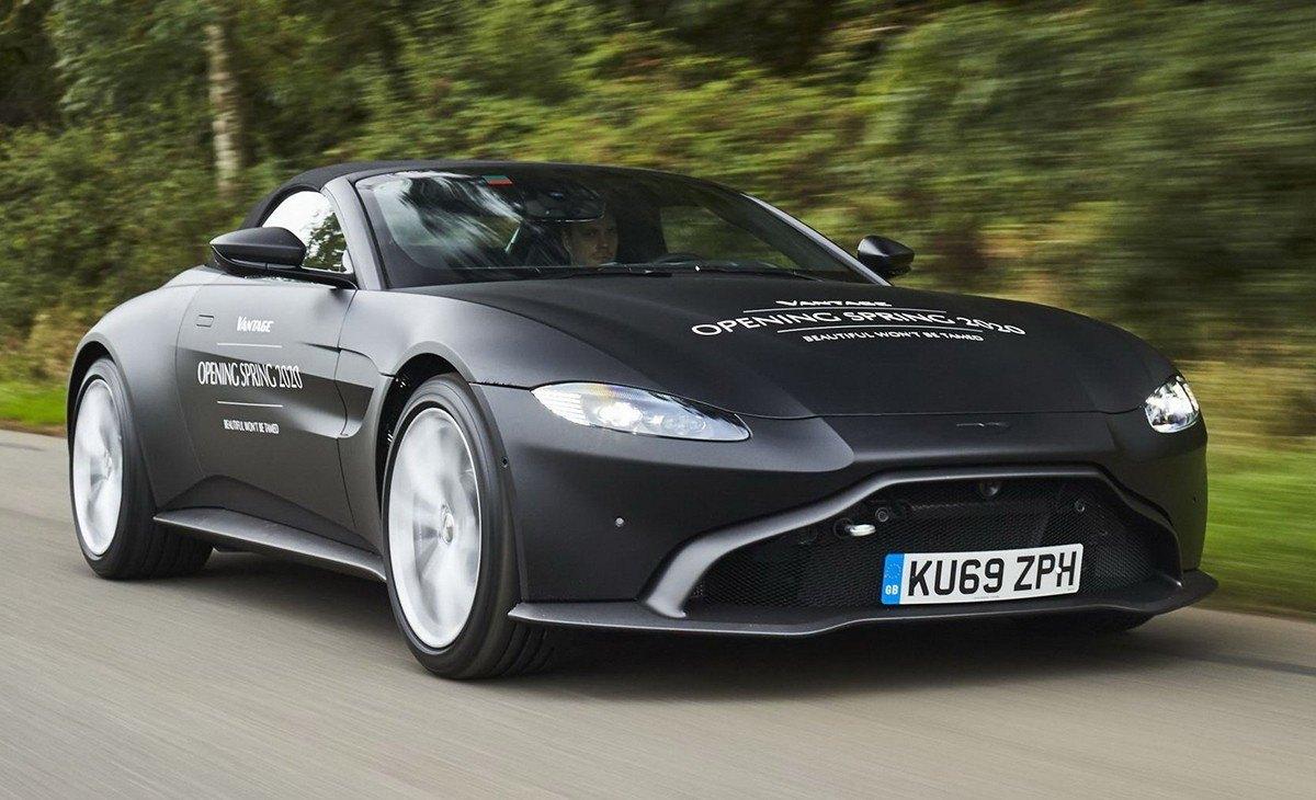 Aston Martin desvela las primeras imágenes del nuevo Vantage Roadster