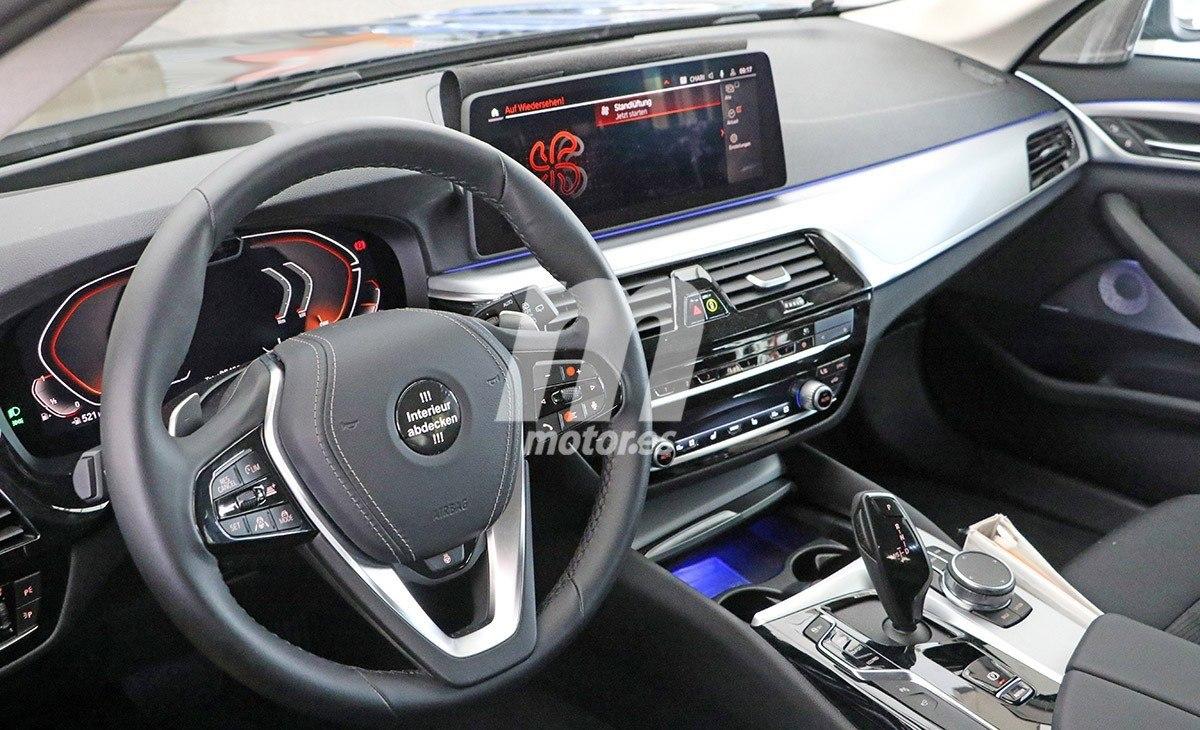 El interior del nuevo BMW Serie 5 2021 al descubierto en estas fotos espía