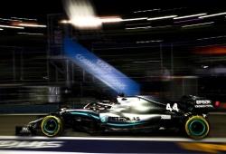 Hamilton, el más rápido en los primeros libres en Singapur