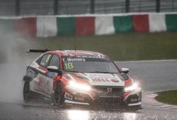 Pole de Tiago Monteiro bajo la lluvia en el triplete de Honda en Suzuka