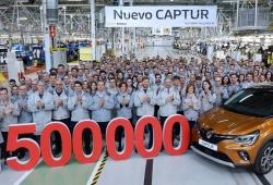 La producción del Renault Captur alcanza las 1.500.000 unidades