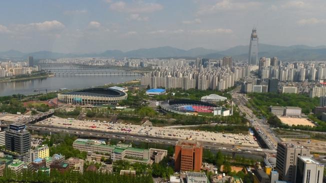 Primer boceto del trazado que acogerá el ePrix de Seúl de Fórmula E