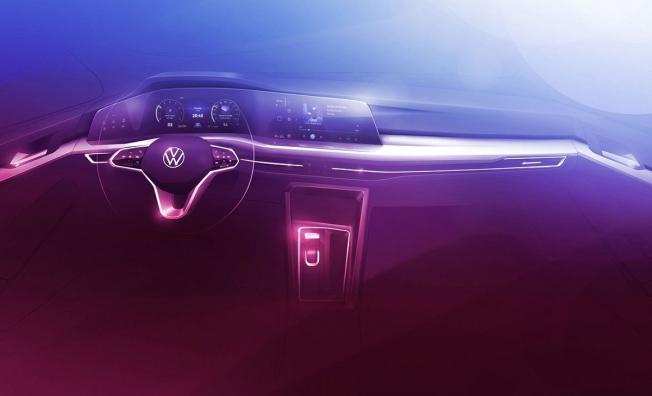 Volkswagen Golf 8 - boceto interior
