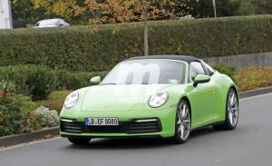 Nuevas fotos espía muestran el progreso técnico del nuevo Porsche 911 Targa