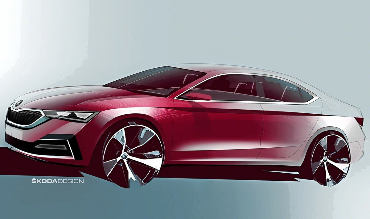El nuevo Skoda Octavia 2020 se deja entrever en estos bocetos