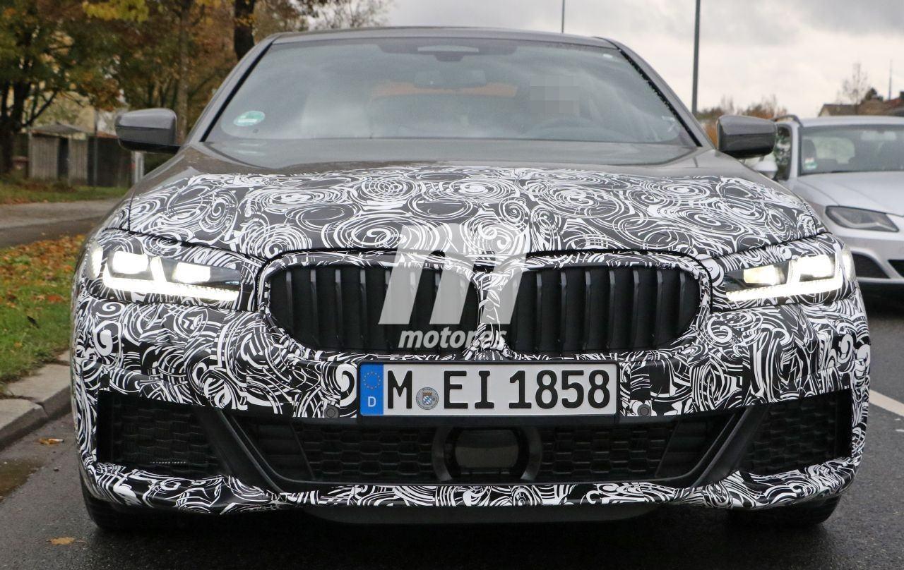 Nuevas fotos espía desvelan el aspecto del paquete M Sport en el BMW Serie 5 Facelift