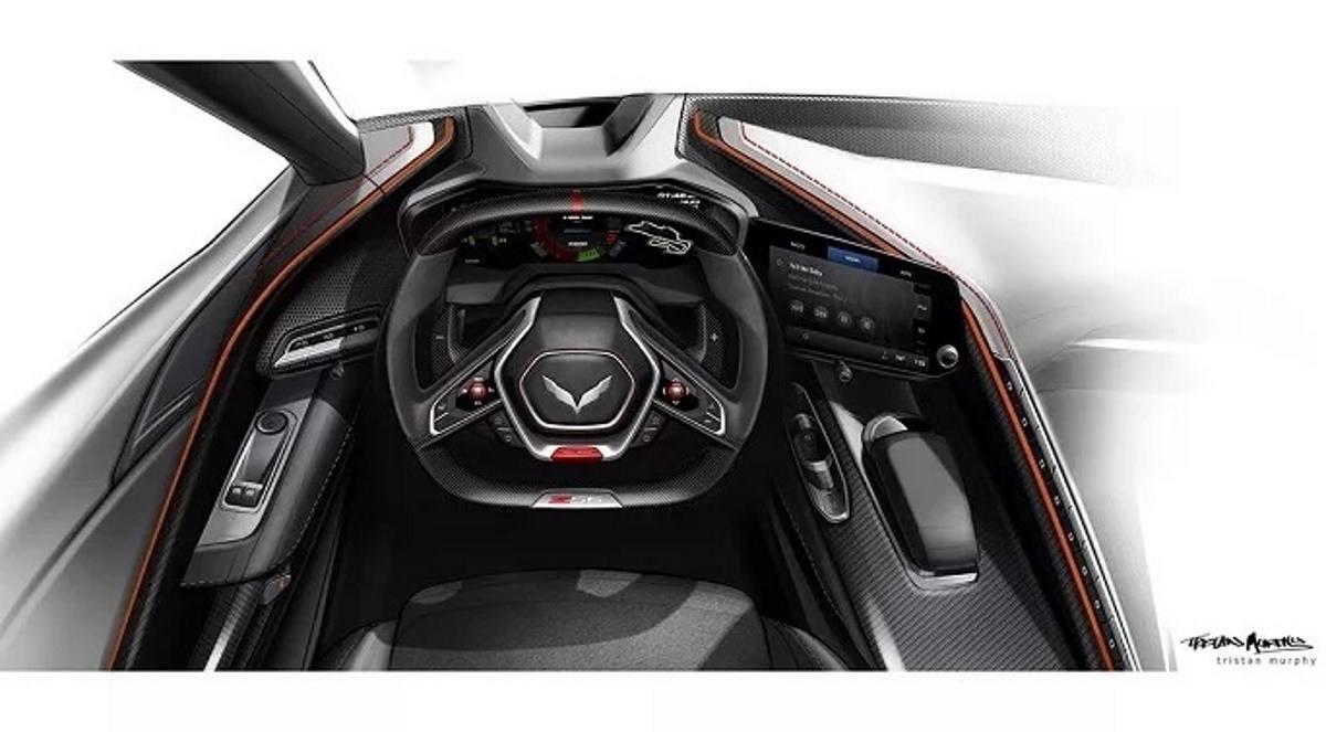 Chevrolet adelanta un boceto del salpicadero del futuro Corvette Z06
