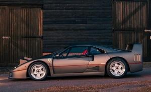 Pieza única: el Ferrari F40 gris ex-Sultán de Brunéi restaurado a su condición original