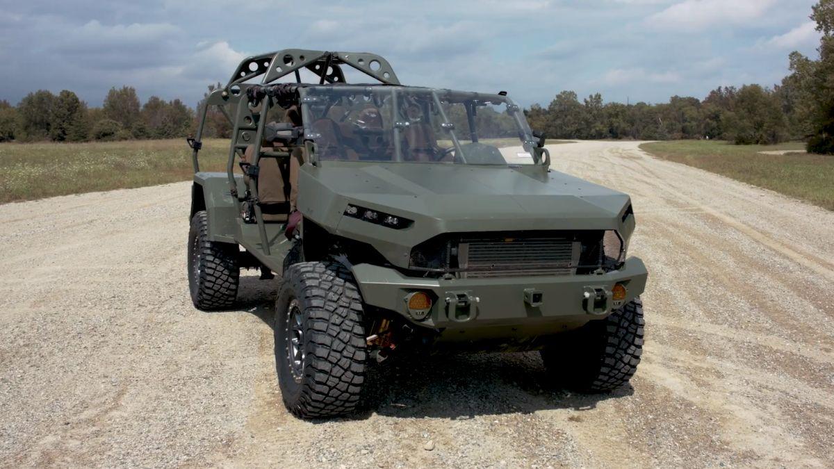 GM Defense ISV: el Colorado ZR2 es la base de este radical vehículo militar ultraligero