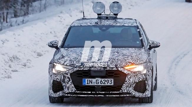 Audi S3 Sedán 2020 - foto espía frontal