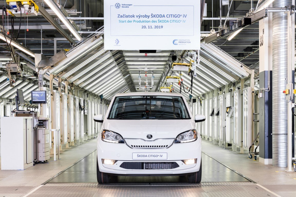 Se inicia la producción del nuevo Skoda Citigoe iV en la planta de Bratislava