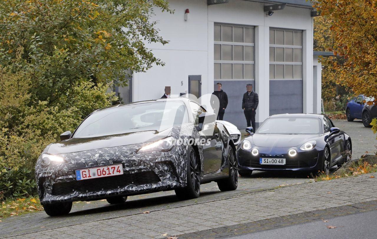 Nuevas fotos espía descubren las pruebas del Subaru BRZ junto al Alpine A110
