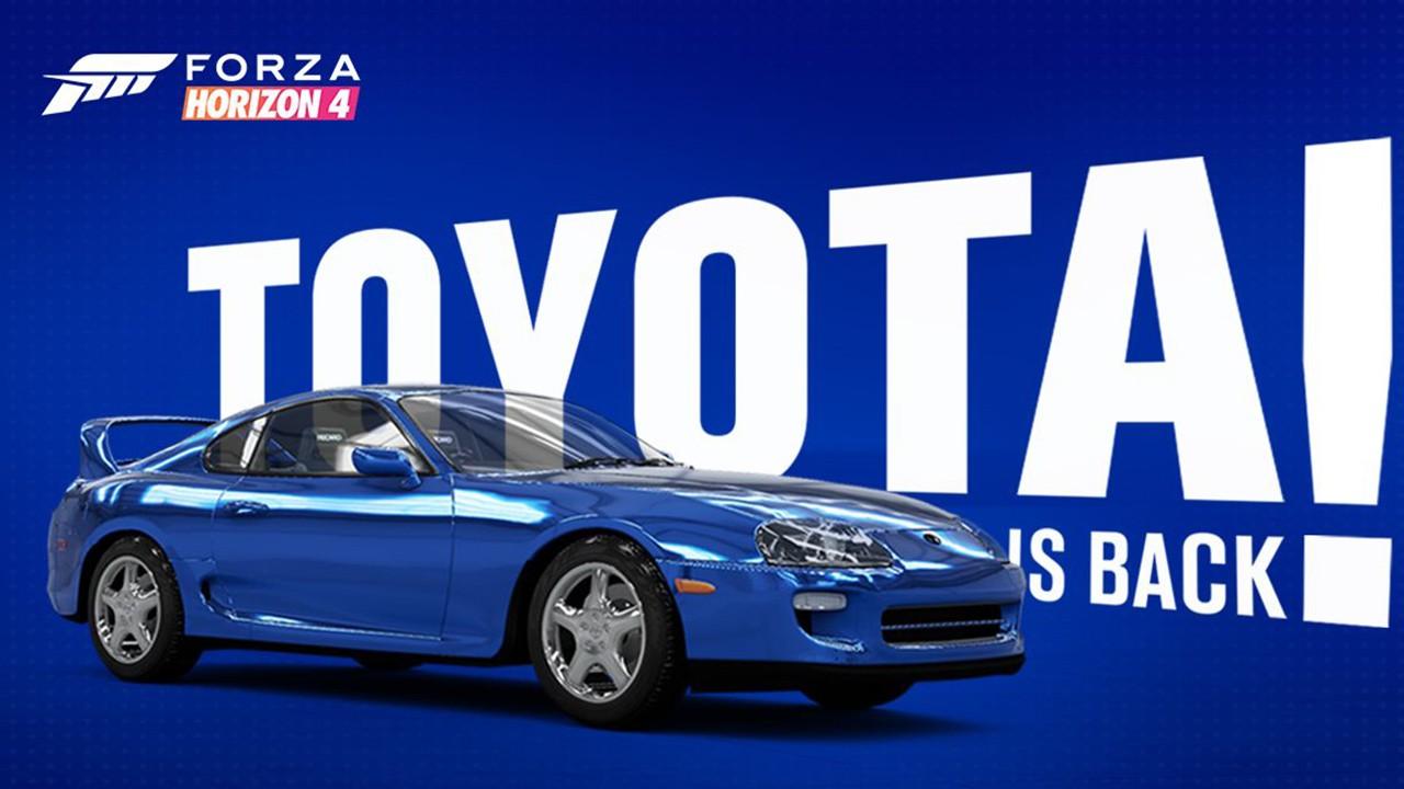 El Toyota Supra RZ llegará a Forza Horizon 4
