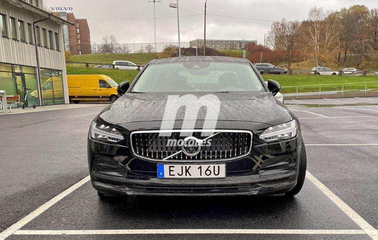 Nuevas fotos espía evidencian un facelift del Volvo S90 para 2021