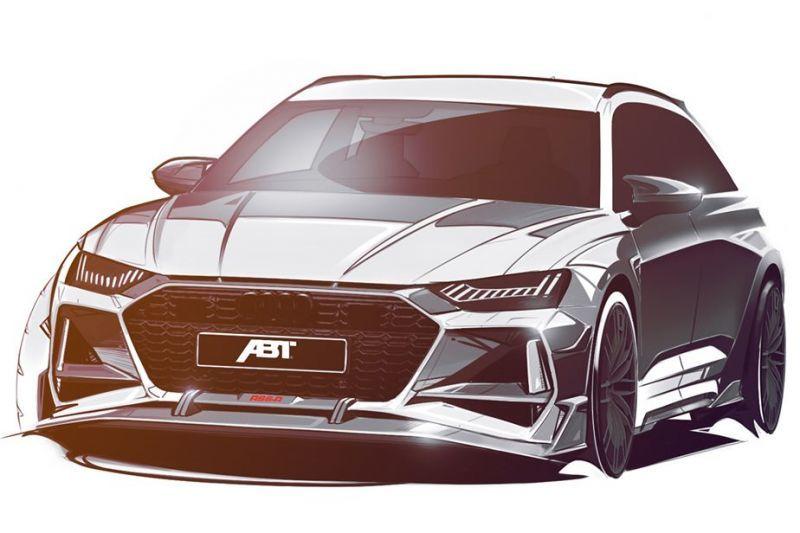 ABT adelanta unos teasers en forma de bocetos del nuevo RS6-R