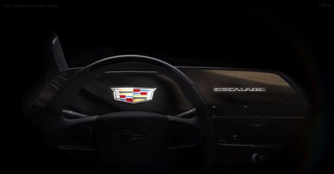 El Cadillac Escalade será el primer modelo con un tablero OLED curvo