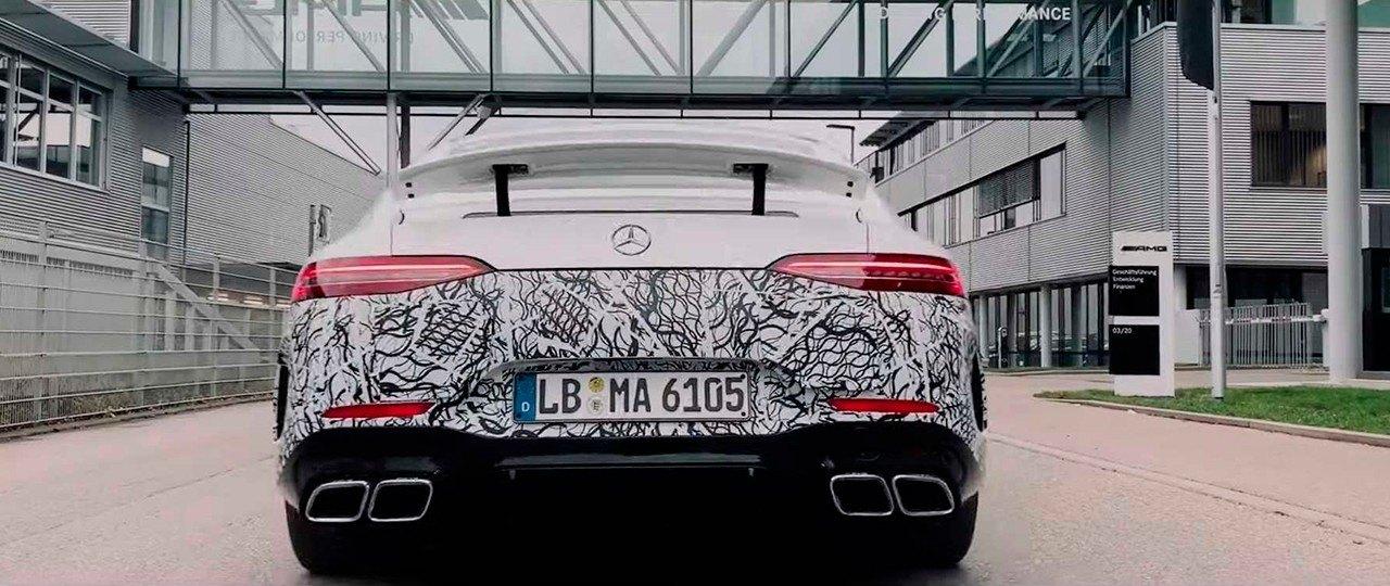 Mercedes-AMG confirma la llegada del nuevo híbrido GT 4 Puertas Coupé 73 4MATIC con un teaser