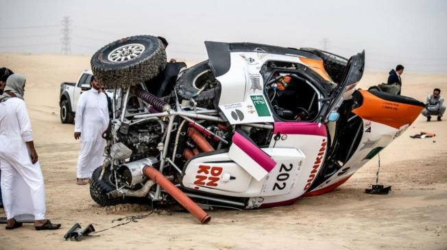 Yazeed Al-Rajhi le gana la partida a Carlos Sainz en la Baja Sharqiyah