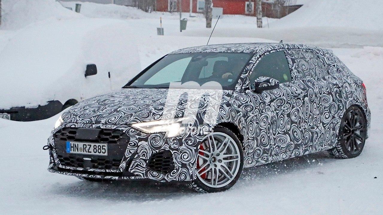 El nuevo Audi RS 3 Sportback 2021 cazado de pruebas en el norte de Europa
