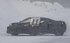 Cazada la primera versión potenciada del Chevrolet Corvette C8